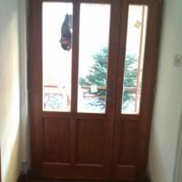 kétszárnyú ajtó, reflexiós üveggel