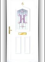 Flintshire F2 műanyag bejárati ajtó díszpanel