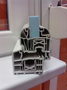 6 légkamrás műanyag ablakprofil