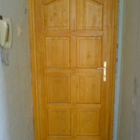 Panel fa bejárati ajtó