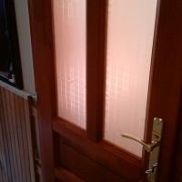 Fa betétes, díszüveges beltéri ajtó