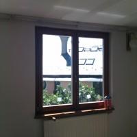 Két szárnyú fa ablak