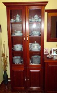 Vitrin szekrény
