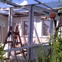 Télikert építés