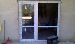 teraszajtós szerkezet nyitható ablakkal