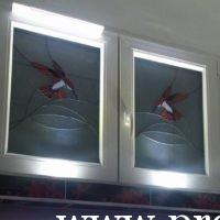 Műanyag ablak díszüveggel